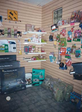 Our rabbit supply store stocked with hay, supplements and toys